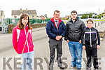 A call has been made for a pedestrian crossing in the village of Rathmore, near Hickey's shop,  led by Kerri Marsh. <br /> Front Kerri Marsh <br /> Back l-r Cllr John Sheahan, Darren Marsh and Kyle McAuliffe