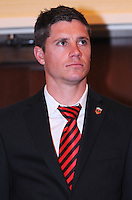 DC United defender Devon McTavish, at the 2011 Season Kick off Luncheon, at the Marriott Hotel in Washington DC, Wednesday March 16 2011.