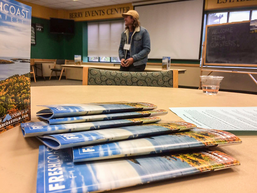 WEB RESOLUTION: Filmmakers with the Fresh Coast Film Festival present to Northern Michigan University students duirng the festival held in October in Marquette, Michigan.