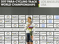 Picture by Simon Wilkinson/SWpix.com - 02/03/2017 - Cycling 2017 UCI Para-Cycling Track World Championships, Los Angeles USA - WHITMORE Jamie USA branding