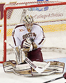 Thatcher Demko (BC - 30) - The visiting University of Notre Dame Fighting Irish defeated the Boston College Eagles 7-2 on Friday, March 14, 2014, in the first game of their Hockey East quarterfinals matchup at Kelley Rink in Conte Forum in Chestnut Hill, Massachusetts.