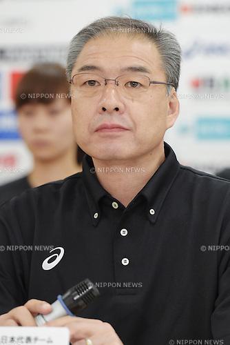 Tomohide Utsumi (JPN),<br /> June 10, 2015 - Basketball : <br /> Japan women's national team training session for 2015 FIBA Asia Championship for Women<br /> at Ajinomoto National Training Center, Tokyo, Japan. <br /> (Photo by Shingo Ito/AFLO SPORT)