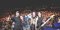 "MEDELLIN, COL AUG 06:  Hightlights from ""La pestilencia"" 30th anniversary concert in Medellin Colombia on August 06, 2016 in Medellin. La Pestilencia is the first hardcore punk band  formed in colombia on 1986, they are currently based based in Los Angeles California. (Photo by Carlos Alberto Montañez/VIEWpress)"