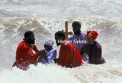 MOUNT ZION SPIRITUAL BAPTIST CHURCH OUTING TO FELIXSTOWE FOR WOMAN'S BAPTISM IN THE SEA,
