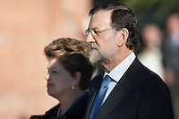 Visit Brazil's president Dilma Rousseff and Mariano Rajoy militar honours