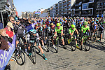 Team Sky and Cannondale-Drapac riders wait for the start of Gent-Wevelgem in Flanders Fields 2017, running 249km from Denieze to Wevelgem, Flanders, Belgium. 26th March 2017.<br /> Picture: Eoin Clarke | Cyclefile<br /> <br /> <br /> All photos usage must carry mandatory copyright credit (&copy; Cyclefile | Eoin Clarke)