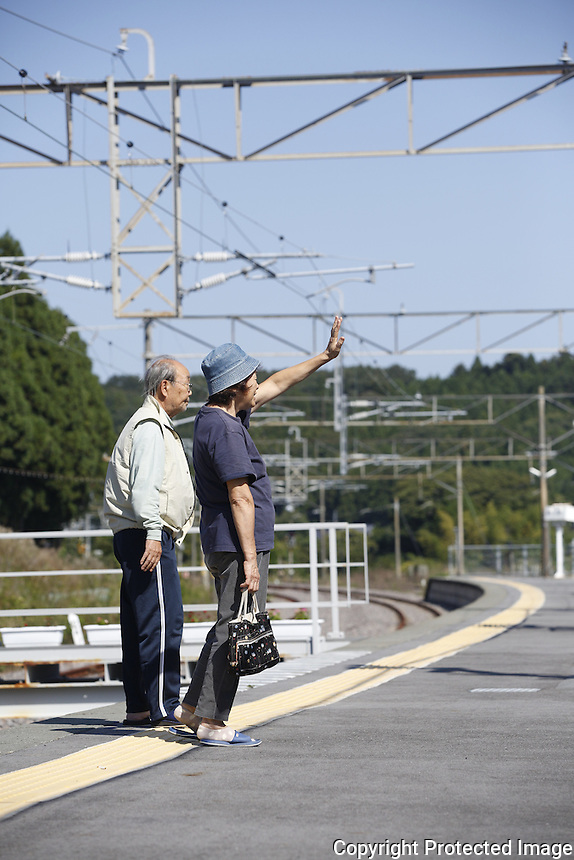 Fukushima evacuees return to Naraha. Full caption to come.