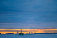 Commercial fishing trolling vessel in Sitka Sound, southeast, Alaska.