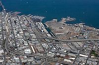 aerial photograph Mission Bay, South Beach, Showplace Square, San Francisco, California