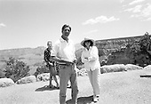 The Grand Canyon, Arizona.USA.August 9, 2004..Democratic presidentual nominee Sen. John Kerry and his wife Teresa on their campaign tour across America from coast to coast......
