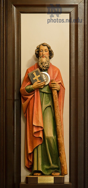 Feb. 22, 2012; Statue of St. Jude in Siegfried Chapel..Photo by Matt Cashore/University of Notre Dame