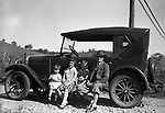 East Brady PA:  Stewart family taking break during a vacation trip to Lake Erie.  Stewart's were traveling in their 1926 Chevrolet Touring Car - 1927.  The route took them from Wilkinsburg to Brady's Bend via Rt 28. Brady Stewart's mother, The This vacation was different from many of the others.  Instead of vacationing near North East PA, they decided to vacation on Presque Isle on Lake Erie.