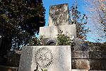 Photo shows the grave of Japan's war-time leader Gen. Hideki Tojo in Tokyo.
