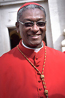 Haitian cardinal Chibly Langlois.Pope Francis,during a consistory for the creation of new Cardinals at St. Peter's Basilica in Vatican.February 14, 2015