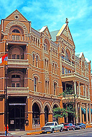 Austin:  The Driskill Hotel, 1886.  Built by cattleman Col Jesse Driskill and designed by Jaspar S. Preston & Son. Oldest operating hotel in Austin.  N.W. corner of 6th & Brazos.