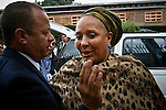 Colombia former senator Piedad Cordoba ( R) arrives to hold a meeting between government officials and activists with the International Red Cross to discuss details of the impending release of 10 hostages held by members of the Revolutionary Armed Forces of Colombia (FARC) in Colombia.  21/03/2012.  Photo by Nestor Silva / VIEWpress.