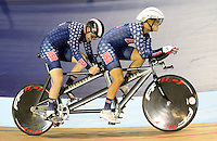 Picture by Simon Wilkinson/SWpix.com - 04/03/2017 - Cycling 2017 UCI Para-Cycling Track World Championships, Velosports Centre, Los Angeles USA - Chester TRIPLET and Stephen PEDONE