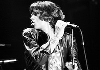 The Rolling Stones performing in 1973. Credit: Ian Dickson/MediaPunch