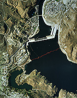 aerial map Grand Cooley Dam Columbia River Washington USA