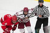 Eric Freschi (Cornell - 11), Alexander Kerfoot (Harvard - 14), Todd Whittemore - The Harvard University Crimson defeated the visiting Cornell University Big Red on Saturday, November 5, 2016, at the Bright-Landry Hockey Center in Boston, Massachusetts.