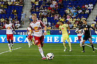 Harrison, NJ - Wednesday July 06, 2016: Justin Bilyeu during a friendly match between the New York Red Bulls and Club America at Red Bull Arena.