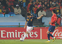 Second-half substitute Javier Martinez crosses ball from tright flank. Spain won Group H following a 2-1 defeat of Chile in Pretoria's Loftus Versfeld Stadium, Friday, June 25th, at the 2010 FIFA World Cup in South Africa..