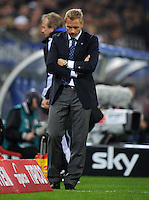 FUSSBALL   1. BUNDESLIGA   SAISON 2011/2012    11. SPIELTAG Hamburger SV - 1. FC Kaiserslautern                          30.10.2011 Trainer Thorsten FINK (Hamburg) enttaeuscht