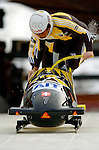 19 November 2005: Ivo Rueegg pilots the Switzerland 2 sled to a 12th place tie finish with Latvia 2 at the 2005 FIBT AIT World Cup Men's 2-Man Bobsleigh Tour at the Verizon Sports Complex, in Lake Placid, NY. Mandatory Photo Credit: Ed Wolfstein.