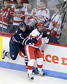Cameron Bernier (Toronto - 3), Matt Nieto (BU - 17) - The Boston University Terriers defeated the visiting University of Toronto Varsity Blues 9-3 on Saturday, October 2, 2010, at Agganis Arena in Boston, MA.