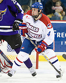 Tim Corcoran (Lowell - 4) - The visiting Minnesota State University-Mankato Mavericks defeated the University of Massachusetts-Lowell River Hawks 3-2 on Saturday, November 27, 2010, at Tsongas Arena in Lowell, Massachusetts.