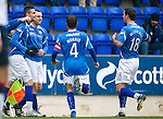St Johnstone v Rangers...14.01.12  .Marcus Haber celebrates his goal.Picture by Graeme Hart..Copyright Perthshire Picture Agency.Tel: 01738 623350  Mobile: 07990 594431