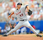 11 March 2008: Detroit Tigers' pitcher Rick Porcello on the mound during a Spring Training game against the Cleveland Indians at Chain of Lakes Park, in Winter Haven Florida.The Tigers rallied to defeat the Indians 4-2 in the Grapefruit League matchup....Mandatory Photo Credit: Ed Wolfstein Photo