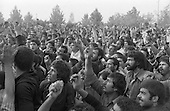 Iran - demonstration against the shah in Behesht-e-Zara cemetery  Tehran - Iran   /// manifestation anti shah au cimetiere  Beechet zara   Teheran - Iran  /// IRAN24961 02