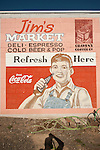 Wall sign featuring Coca-Cola advertising Jim's Market, Lind, Wash.