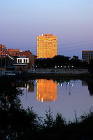 Summer evening view of Riverview Tower in Minneapolis