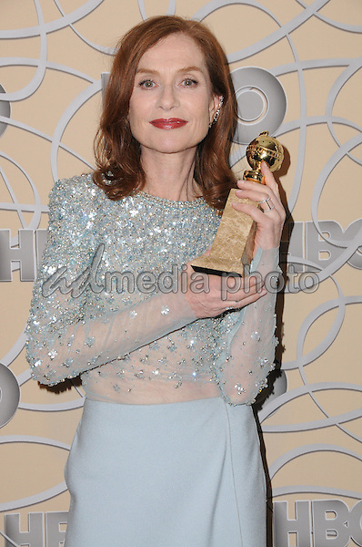 08 January 2017 - Beverly Hills, California - Isabelle Huppert. HBO's Official 2017 Golden Globe Awards After Party held at the Beverly Hilton Hotel Photo Credit: Birdie Thompson/AdMedia