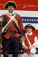Father and son american revolutionary war reenactors