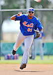 10 March 2012: New York Mets infielder Jordany Valdespin warms up prior to a Spring Training game against the Washington Nationals at Space Coast Stadium in Viera, Florida. The Nationals defeated the Mets 8-2 in Grapefruit League play. Mandatory Credit: Ed Wolfstein Photo