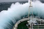 February 4th 2007. Southern Ocean.<br /> Greenpeace ship MY Esperanza on her route towards Antarctica on a Force 10 storm.