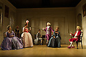 THE SCHOOL FOR SCANDAL opens the Theatre Royal Bath's summer season of new in-house productions, overseen by leading guest director, Jamie Lloyd. Picture shows:  Susannah Fielding (Lady Teazle), Serena Evans (Lady Sneerwell), Timothy Speyer (Servant), Susannah Fielding (Lady Teazle),Edward Bennett (Joseph Surface), Grant Gillespie (Sir Benjamin Backbite), Maggie Steed (Mrs Candour), David Killick (Crabtree).