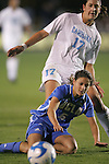 05 December 2008: UCLA's Christina DiMartino (5) and North Carolina's Yael Averbuch (17). The University of North Carolina Tar Heels defeated the University of California Los Angeles Bruins 1-0 at WakeMed Soccer Park in Cary, NC in an NCAA Division I Women's College Cup semifinal game.