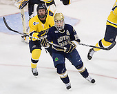Karl Stollery (Merrimack - 7), Ben Ryan (Notre Dame - 19) - The University of Notre Dame Fighting Irish defeated the Merrimack College Warriors 4-3 in overtime in their NCAA Northeast Regional Semi-Final on Saturday, March 26, 2011, at Verizon Wireless Arena in Manchester, New Hampshire.