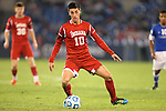 07 December 2012: Indiana's A.J. Corado. The Creighton University Bluejays played the Indiana University Hoosiers at Regions Park Stadium in Hoover, Alabama in a 2012 NCAA Division I Men's Soccer College Cup semifinal game. Indiana won the game 1-0.