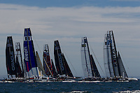 PORTUGAL, Cascais. 5th August 2011. America's Cup World Series. Practice day. Start.