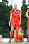 17 October 2013: Syracuse's Megan Hunsberger. The University of North Carolina Tar Heels hosted the Syracuse University Orangemen at Fetzer Field in Chapel Hill, NC in a 2013 NCAA Division I Women's Soccer match. UNC won the game 1-0.