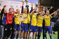 VOETBAL: FRANEKER: 10-01-2015, Sporthal De Trije Franeker - Open FK zaalvoetbal, FC Franeker wint, ©foto Martin de Jong