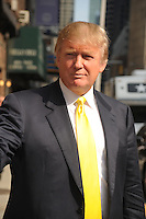 Donald Trump at the Ed Sullivan Theater for an appearance on 'Late Show with David Letterman' in New York City. August 18, 2009 Credit: Dennis Van Tine/MediaPunch