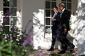 US President Barack Obama (R) and Italian Prime Minister Matteo Renzi (L) talk as the walk to the Oval Office after an official arrival ceremony on the South Lawn of the White House in Washington DC, USA, 18 October 2016. Later today President Obama and First Lady Michelle Obama will host their final state dinner featuring celebrity chef Mario Batali and singer Gwen Stefani performing after dinner. <br /> Credit: Shawn Thew / Pool via CNP