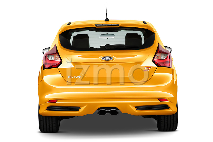 Straight Rear View of a 2013