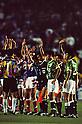 Kazuyoshi Miura (Verdy),..MAY 15, 1993 - Football :..Kazuyoshi Miura of Verdy Kawasaki acknowledges fans after the J.League Opening Match between Verdy Kawasaki 1-2 Yokohama Marinos at National Stadium in Tokyo. Japan. (Photo by Katsuro Okazawa/AFLO)(L to R) Shigetatsu Matsunaga (Marinos), Ramon Angel Diaz (Marinos), Everton Nogueira (Marinos), Kazuyoshi Miura (Verdy), Tadashi Nakamura (Verdy)